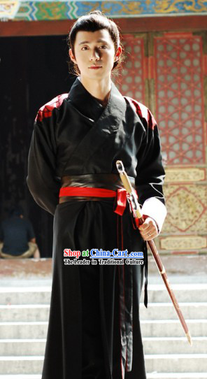 Ancient Chinese Knight Swordsman Clothing Complete Set for Men