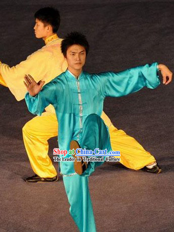 Traditional Chinese Silk Tai Chi Clothes for Men