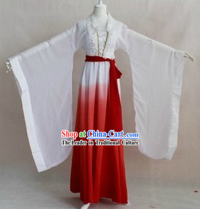 Ancient Chinese Color Transition Musician Costumes for Women