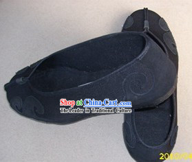 Traditional Chinese Black Taoist Cloud Shoes for Men