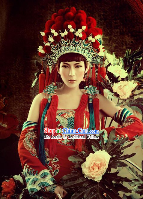 Beijing Opera Phoenix Helmet for Women