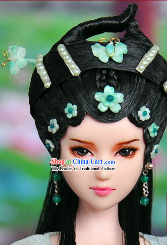 Ancient Chinese Lady Hair Accessories and Wig
