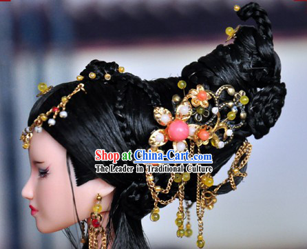 Ancient Chinese Queen Hair Accessories and Wig for Women