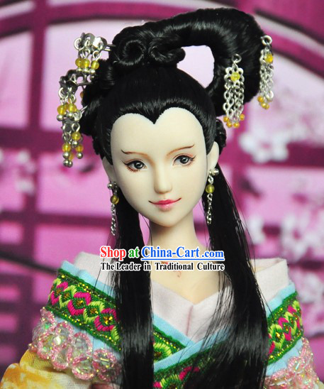 Ancient Chinese Beauty Headwear and Wig