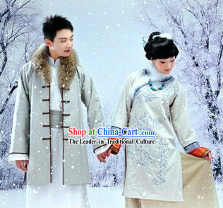 Traditional Chinese Winter Couple Clothes for Men and Women