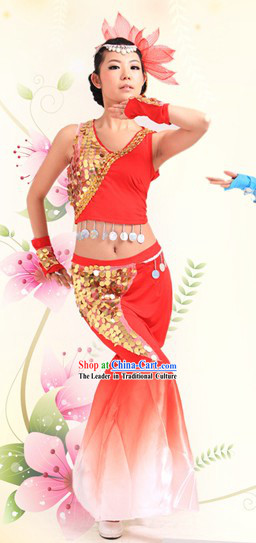 Chinese Dai Ethnic Dance Costumes for Women