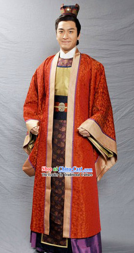 Ancient Chinese Nobles Costumes and Coronet for Men