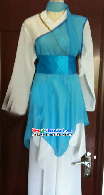 Blue Chinese Classic Dancing Costumes for Men