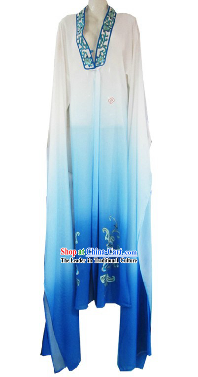 Ancient Chinese Color Transition Long Sleeve Dance Costumes for Women