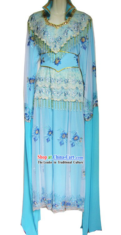 Chinese Opera Light Blue Hua Dan Costumes for Women