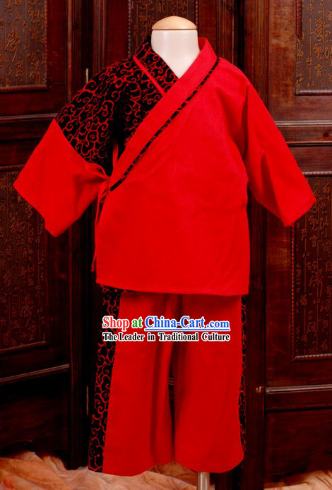 Ancient Chinese Red Clothing for Kids