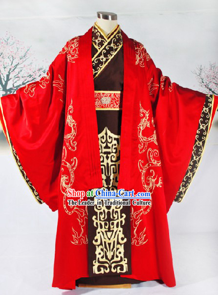 Chinese Classic Auspicious Bridegroom Han Fu Wedding Dress Complete Set