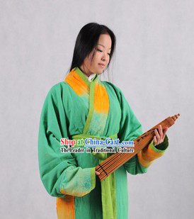 Ancient Chu Guo Women Clothes Complete Set