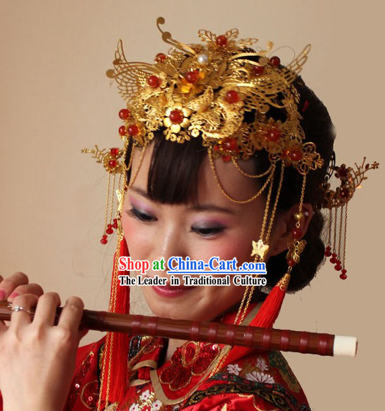 Ancient Chinese Wedding Phoenix Crown for Brides