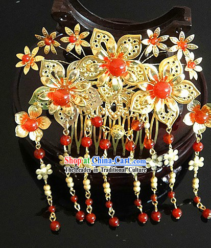 Traditional Chinese Handmade Flower Wedding Hairpin