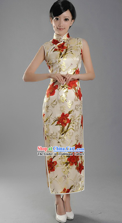 Minguo Time Chinese Long Qipao for Women