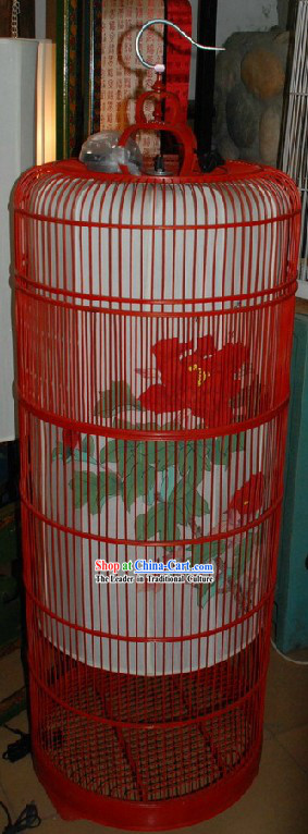Ancient Ming Dynasty Antique Style Hand Painted Birdcage Lantern Set