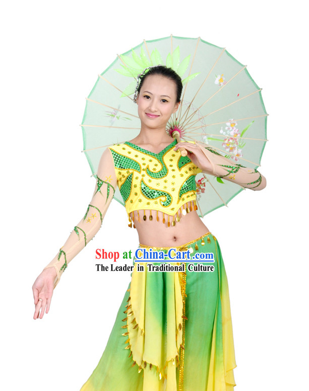 Traditional Chinese Willow Umbrella Dance Costumes for Women