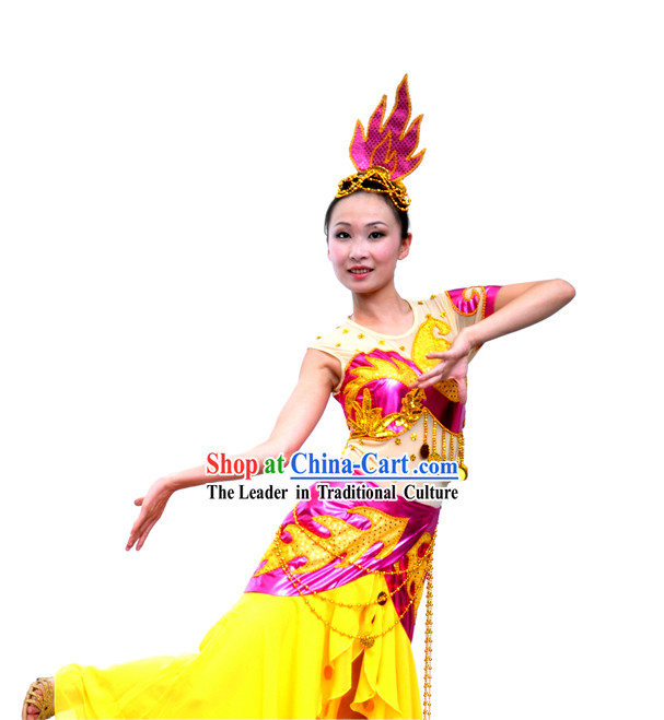 Chinese Dai Minority Dance Costume for Women