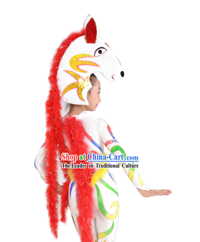 Chinese Horse Year Dance Costume and Head for Adults or Children