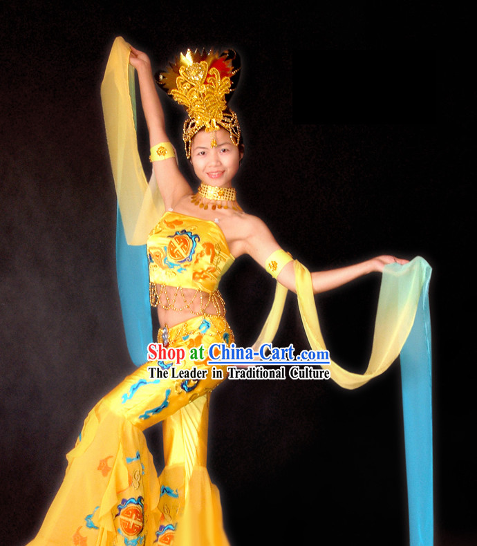 Stunning Chinese Classical Flying Fairy Dance Costumes Complete Set