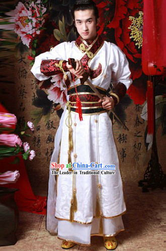 Traditional Chinese Knight Male Clothing Complete Set for Men