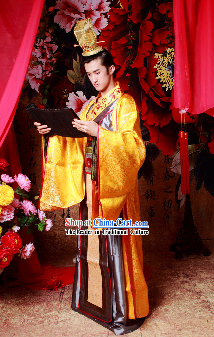 Ancient Chinese Prince Clothing and Hat for Men
