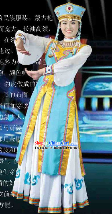 Mongolian Dance Costumes and Hair Accessories for Women