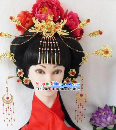 Ancient Chinese Handmade Empress Hair Accessories Complete Set