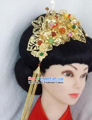 Traditional Chinese Wedding Headpiece for Brides