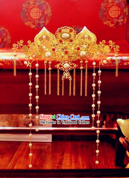 Traditional Chinese Wedding Phoenix Crown for Brides