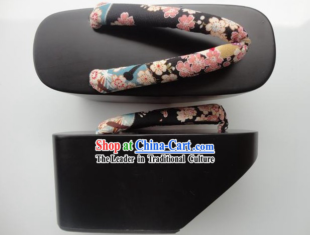 Traditional Thick Sole Japanese Geisha Dance Sandals Geta