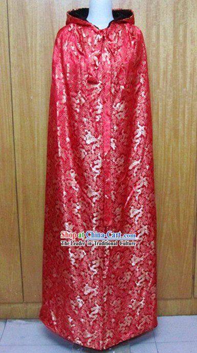 Ancient Chinese Red Dragon Cape