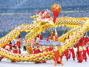 Beijing Olympic Games Opening Ceremony Performance Dragon Dance Costume Complete Set