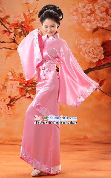 Ancient Chinese Pink Han Fu Clothing for Women