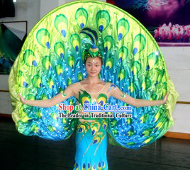 Electric LED Glowing Peacock Dance Costumes
