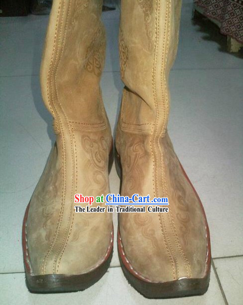 Handmade Classic Mongolian Cowhide Shoes / Boots