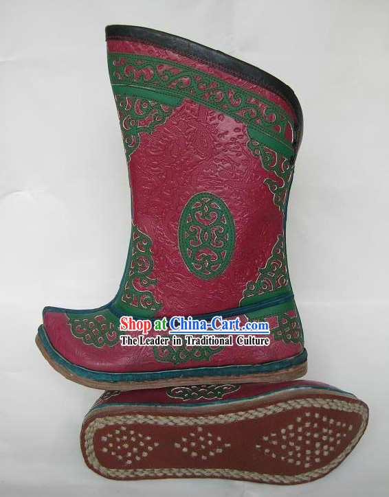 Handmade Classic Mongolian Cowhide Boots for Women