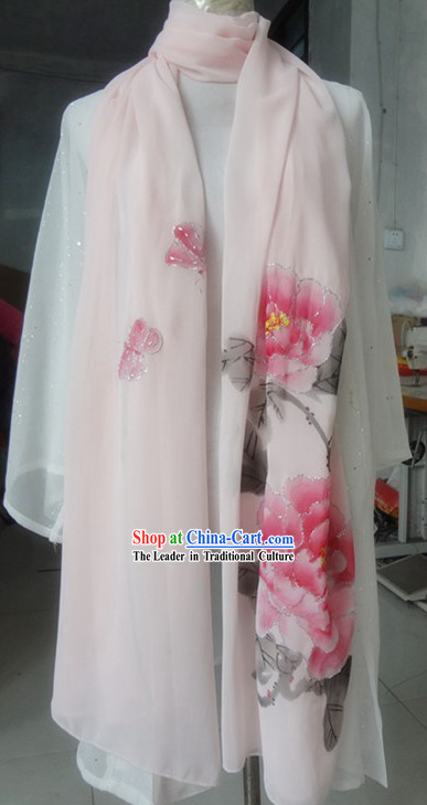 Chinese Classic Light Pink Kung Fu and Tai Chi Scarf for Women