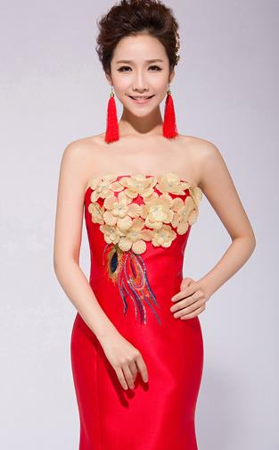 Traditional Chinese Classical Wedding Evening Dress