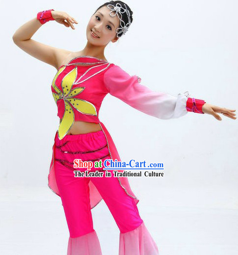 Chinese Stage Performance Dance Costume and Headpiece for Women