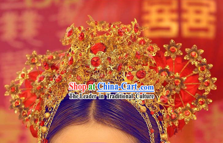 Traditional Chinese Handmade Bridal Wedding Crown