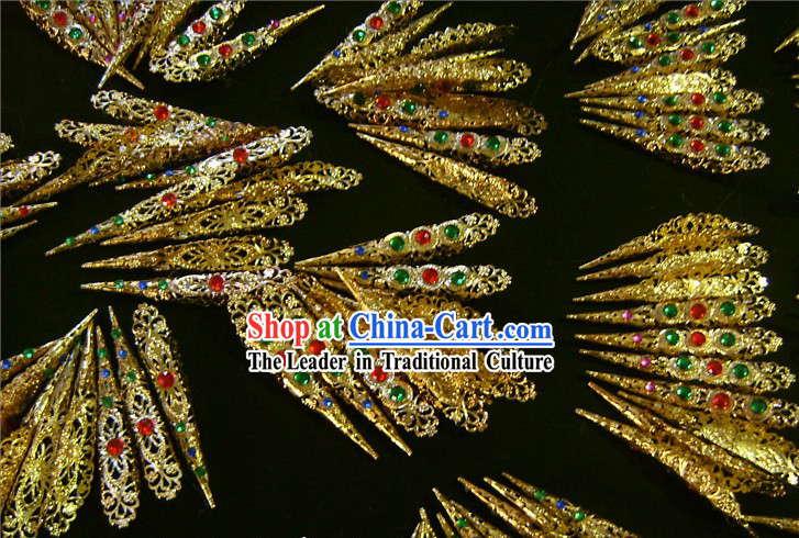 Ancient Chinese Palace Empress Style Fingernail Accessories Four Pieces Set