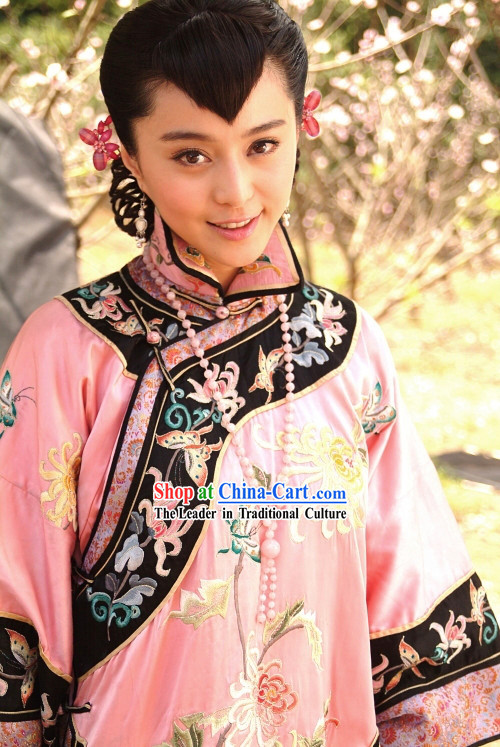 Rouge Snow Chinese Minguo Royal Lady Embroidered Flower Costumes