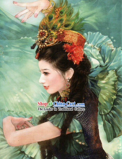 Ancient Chinese Peacock Princess Crown Hair Accessories