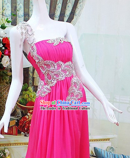 Romantic Handmade Long Evening Dress