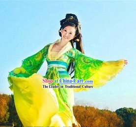Ancient Chinese Guzhuang Character Huang Rong Costumes for Women