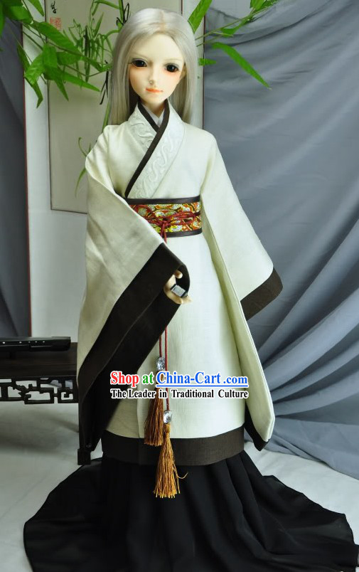Ancient Chinese Teacher Costumes Long Robe