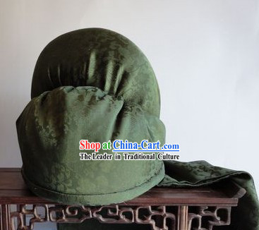 Ancient Chinese Three Kingdoms Gwan Gong Cloth Hat for Men