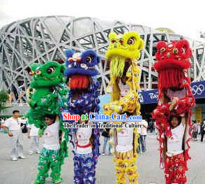 Beijing Olympic Games Opening Ceremony Lion Dance Costume Complete Set